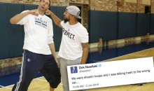 Dirk Nowitzki and Rougned Odor Mock Jose Bautista (Pic + Tweet)