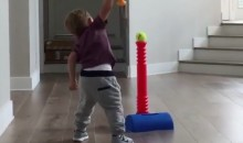 J.J. Redick's Kid Is a Godawful Baseball Player (Video)
