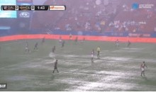 FC Dallas and Houston Dynamo Play on Flooded Field, and the Results Are Not Good (Video)