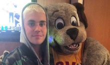Justin Bieber Cheers on the Cavs, Booed By Cavs Fans (Video)