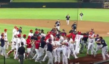 Big Ole' Brawl Breaks out Between Minor League Teams Leading to Six Ejections (Video)