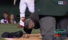 Umpire Paul Emmel Has Head Cracked Open By Bat (Video)