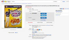 EBAY User Attempting to Sell Toronto Blue Jays RF Bautista's Bat Flip Cereal For $1,000