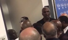 Charles Oakley Fights with Security Because They Won't Let Him into the Cavs Locker Room (Video)