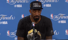 JR Smith Emotional During Post Game Interview (Video)