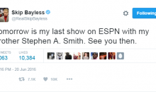World's Highest Paid Troll Skip Bayless' Last Day on ESPN is Tomorrow; Social Media Reacts