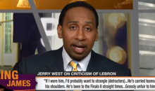 Stephen A. Smith: 'Jerry West Shouldn't Be The NBA Logo, It Should Be Michael Jordan' (Video)