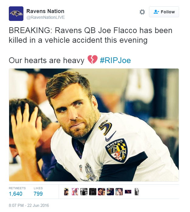 Baltimore Ravens Nation Twitter Hacked; Falsely Reported