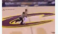Watch As Security Guard Tackles Fan Who Ran Out On The Court (Video)
