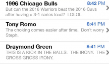 Steph Curry's Inbox Messages leaked Following Game 7 Loss To Cavs