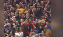 Steph Curry's Wife & Mother Blow Kisses at Cavs Fans After His Ejection (Video)