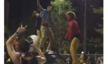 Cavs Fans Get Thrown Off A Truck Trying To Celebrate While Driver Is Inside (Video)