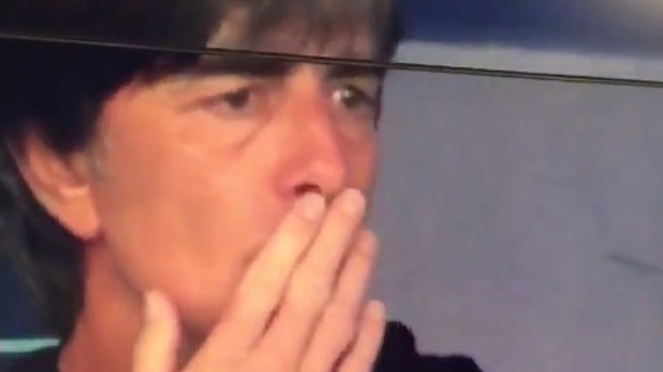 germany coach joachim low sniffing armpits
