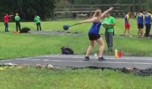 Hammer Throw Nails Some Poor Soul in the Last Place You'd Want to Be Hit (Video)