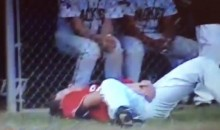 High School Baseball Player Has Epic Reaction to Foul Ball to the Crotch (Videos)