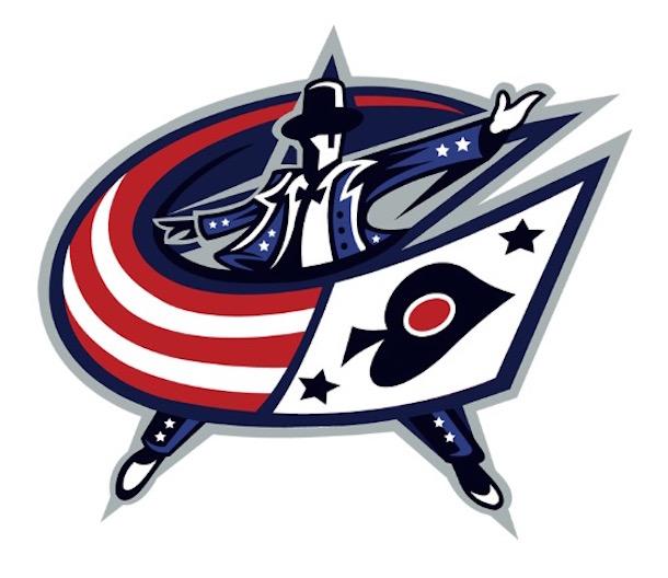 las vegas NHL logos blue jackets