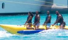 Banana Boat Buddies LeBron, Carmelo, CP3, and D-Wade Have Their Own Snapchat Banana Boat Filter (Pics)