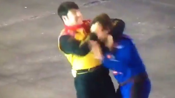 nascar fight John Wes Townley and Spencer Gallagher