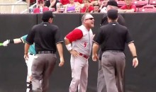 NC State Baseball Coach Has Epic Meltdown, Uses Sweet Spin-o-Rama to Evade Umpire (Video)