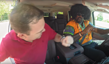 Shaq Goes Undercover As A Rasta, Biker Lyft Driver (Video)