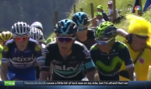 Tour de France Cyclist Punches a Fan In The Face (Video)