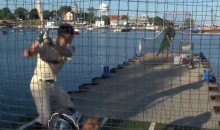 College League Held Their Home Run Derby on a Dock in Lake Michigan, and It Was AWESOME (Video)