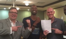 Harrison Barnes Signs With Dallas Mavericks…While Handcuffed (Pic)