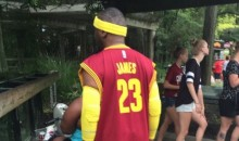 Dude Decked Out in LeBron James Gear Hits the Zoo (Pic)