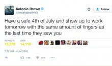 Was Antonio Brown Trolling JPP with This Tweet about Fireworks Safety?