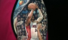 Heat Fan Gets Incredible Tattoo of Ray Allen's Clutch 3-Pointer From 2013 NBA Finals (Pic)