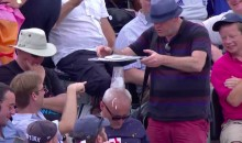 Drunk Cricket Fan Passes Out, Hilarity Ensues (Video)