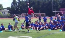 Odell Beckham Schools Kid at Youth Football Camp with One-Handed Catch (Video)