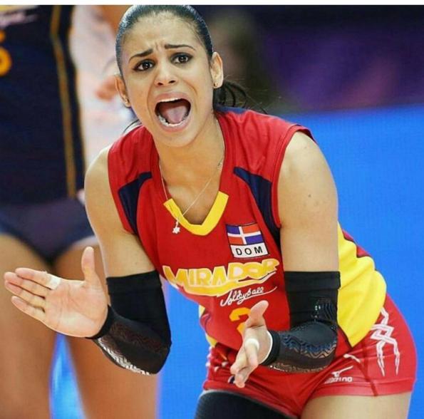 Beautiful Volleyball Player Winifer Fernandez Is Taking