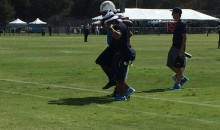 Chargers WR Stevie Johnson Carried Off Practice Field 'Unable To Put Pressure on Leg' (Video)