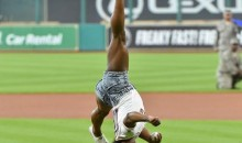 Olympic Gymnast Simone Biles Acrobatic 1st Pitch At Astros Game (Video)