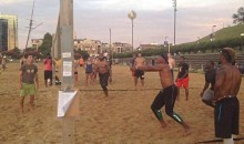 Cam Newton & Panthers Crash A Beach Volleyball Game While In Baltimore (Video)