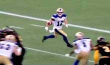 CFL Receiver Ryan Smith Accidentally Makes the Most Ridiculous No-Look Catch You'll Ever See (Video)