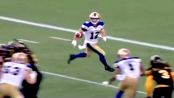 cfl receiver ryan smith accidental catch