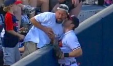 Braves Left Fielder Chase d'Arnaud Kisses Fan Who Interfered with Catch (Video)