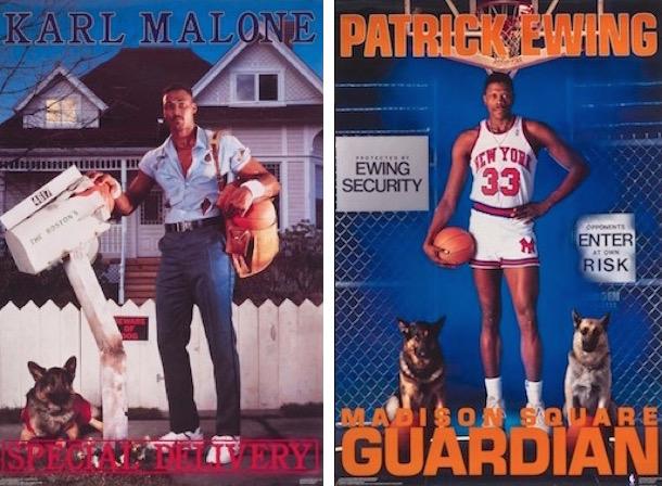 corny 80s sports posters