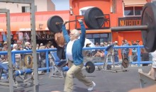 Professional Crossfit Competitor Dresses Up as Old Man and Does Deadlifts at Muscle Beach (Video)
