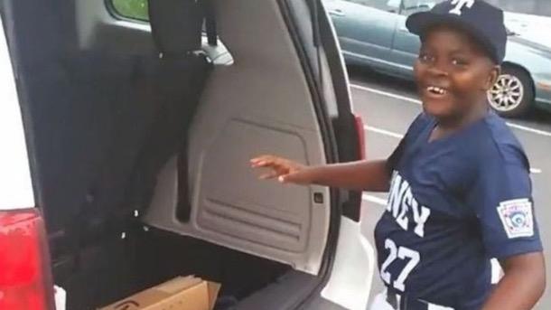 dad surprises son baseball bat viral video