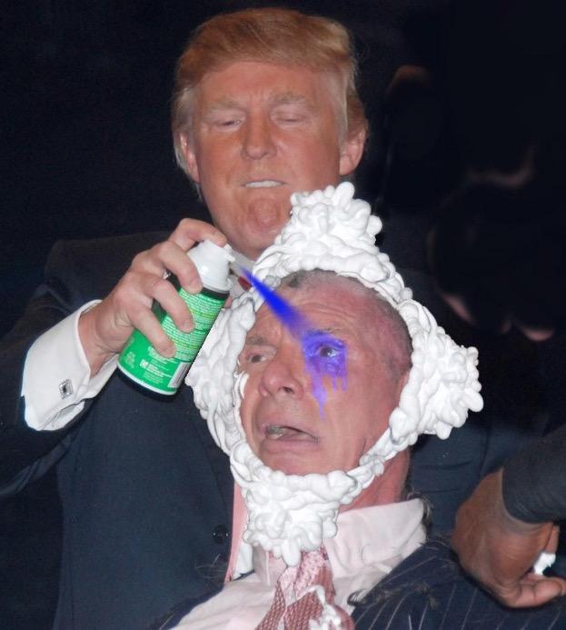 donald trump vince mcmahon photoshops (photo of donald trump shaving vince mcmahon's head sparks photoshop battle) 16