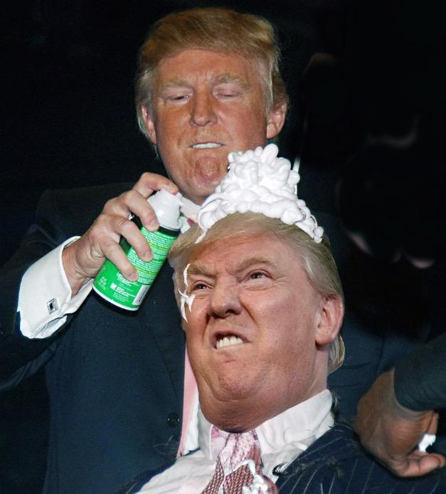 donald trump vince mcmahon photoshops (photo of donald trump shaving vince mcmahon's head sparks photoshop battle) 3