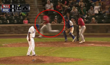 Upset Pitcher Runs Behind Home Plate from Own Dugout To Start a Bench-Clearing Brawl (Video)