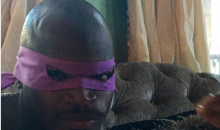 Adrian Peterson Trolled on Twitter About His Child Abuse After Posting Pic of Himself as Donatello