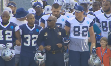 Cowboys Enter For Their First Practice Arm-In-Arm With Dallas PD & Families of Slain Officers (Video)
