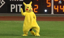 Giant Pikachu Shows Up At Citizens Bank Park; Proceeds To Flip-Off Phillies Fans (Video)