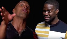 Watch Dwyane Johnson and Kevin Hart Impersonate Each Other While Interviewing Each Other (Video)