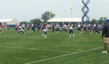 Eli Manning's First Pass During Giants Training Camp…Is An Interception (Video)